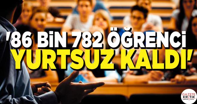 CHP'Lİ SEZGİN TANRIKULU:'86 BİN 782 ÖĞRENCİ YURTSUZ KALDI'