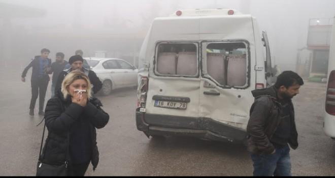 Bursa'da siste zincirleme kaza: 7 yaralı