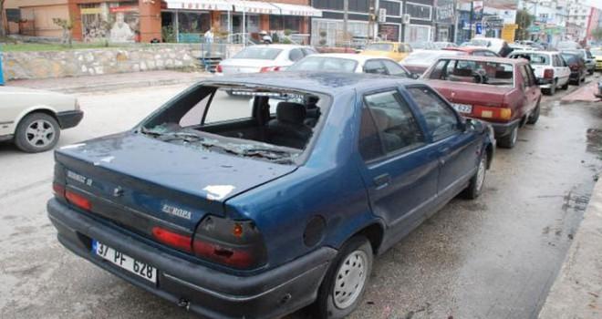 Kastamonu'da araçlardaki dolu zararı için aylık gelir şartı