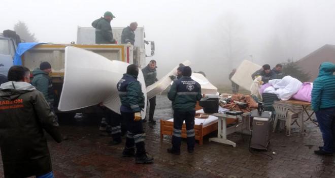 Yayladaki işletmeye 160 kişilik ekiple tahliye