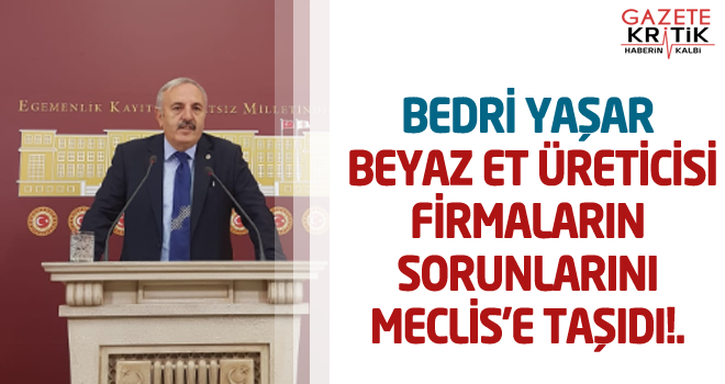 BEDRİ YAŞAR BEYAZ ET ÜRETİCİSİ FİRMALARIN SORUNLARINI MECLİS'E TAŞIDI!.