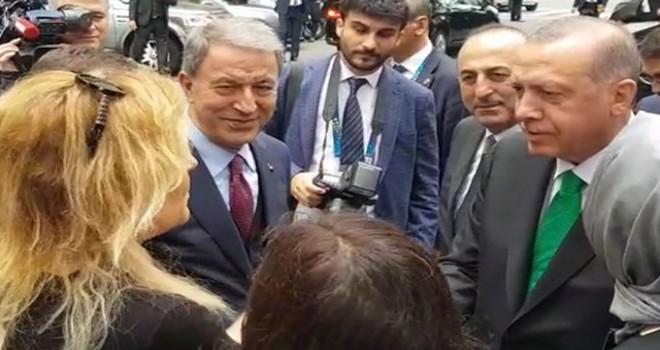 Cumhurbaşkanı Erdoğan'a, Arjantin'de vatandaşlardan büyük ilgi