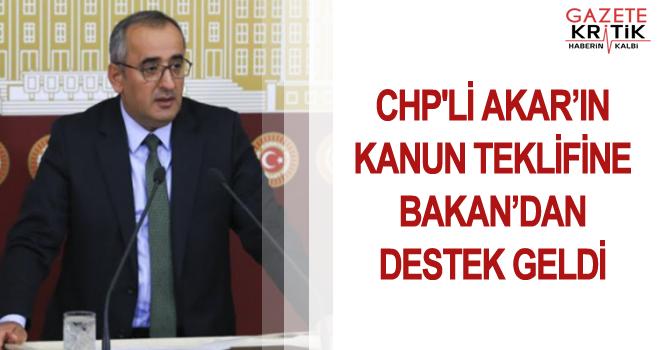 CHP'Lİ AKAR'IN KANUN TEKLİFİNE BAKAN'DAN DESTEK GELDİ