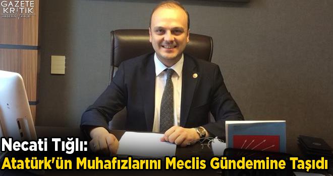 Necati Tığlı:Atatürk'ün Muhafızlarını Meclis Gündemine Taşıdı