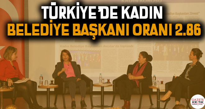 Türkiye'de kadın belediye başkanı oranı 2.86