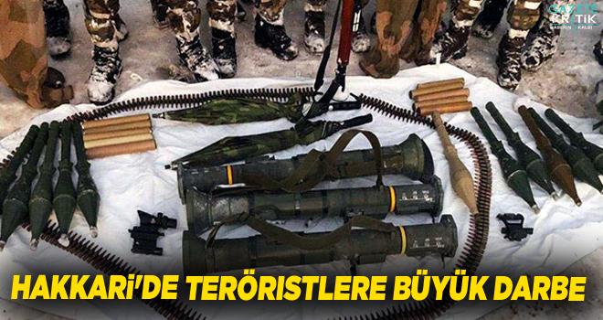 Hakkari'de teröristlere büyük darbe