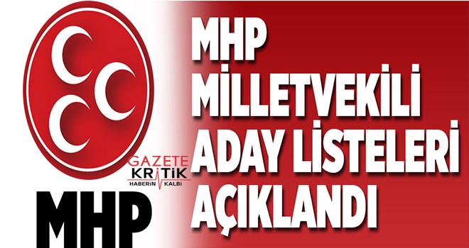 MHP'nin 27. dönem milletvekili adayları belli oldu