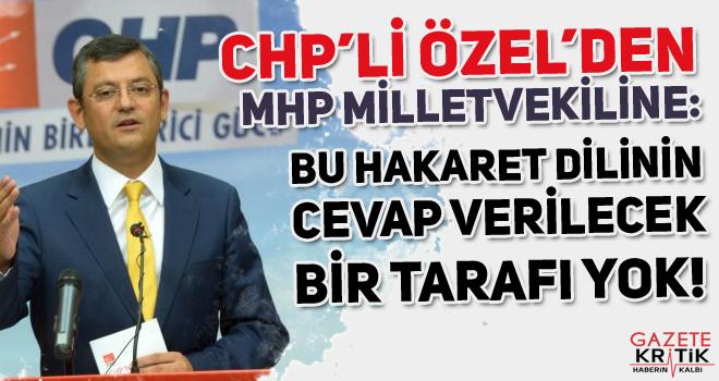 CHP'li Özel'den MHP Milletvekiline: Bu hakaret dilinin yanıt verilecek tarafı yok