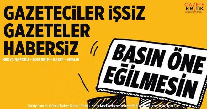 GAZETECİLER İŞSİZ, GAZETELER HABERSİZ!