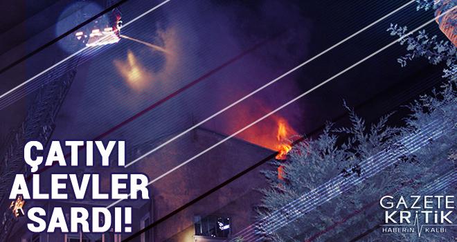 Söndürülmeyen nargile kömürü çatı katında yangın çıkardı
