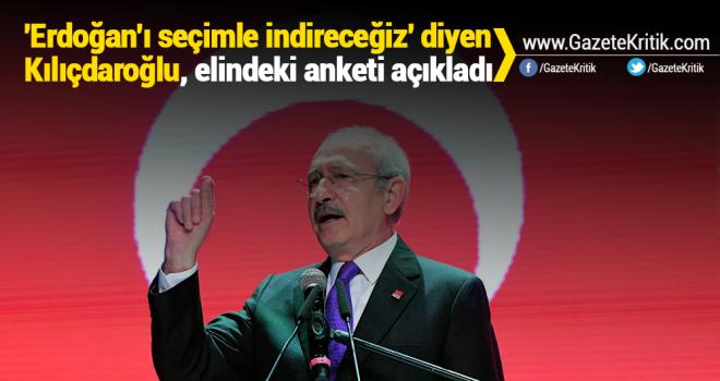 'Erdoğan'ı seçimle indireceğiz' diyen Kılıçdaroğlu, elindeki anketi açıkladı