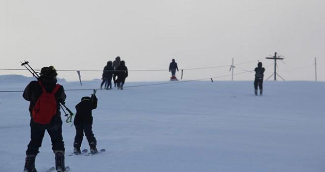 Bingöl'deki kayak merkezine ilgi arttı