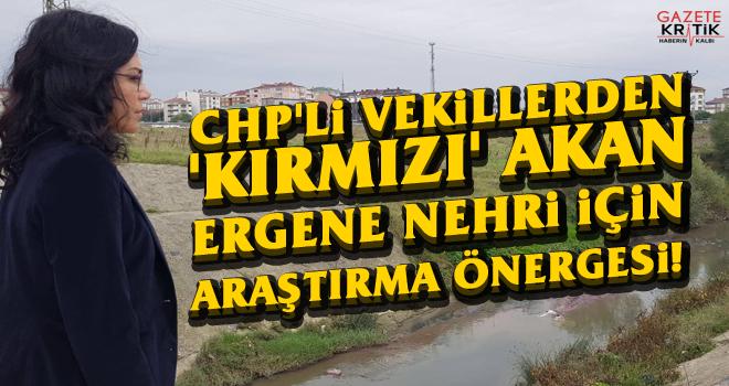 CHP'li vekillerden 'kırmızı' akan Ergene Nehri için araştırma önergesi!
