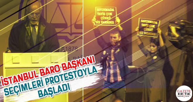 İstanbul Baro Başkanı seçimleri protestoyla başladı