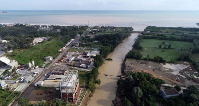 HKP: Köprüleri Sel aldı Fındığı Deniz