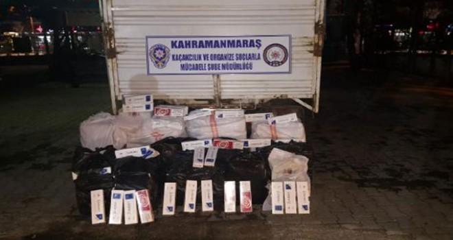 Kahramanmaraş'ta kaçak sigaraya 2 gözaltı
