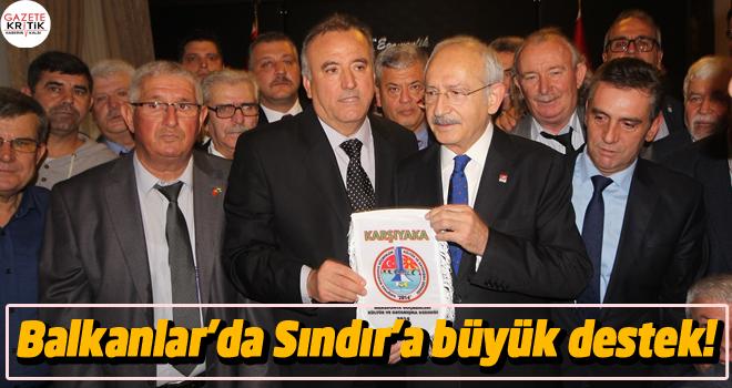 Balkanlar'da Sındır'a büyük destek!