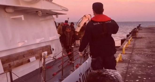 Çeşme'de 43 kaçak göçmen yakalandı