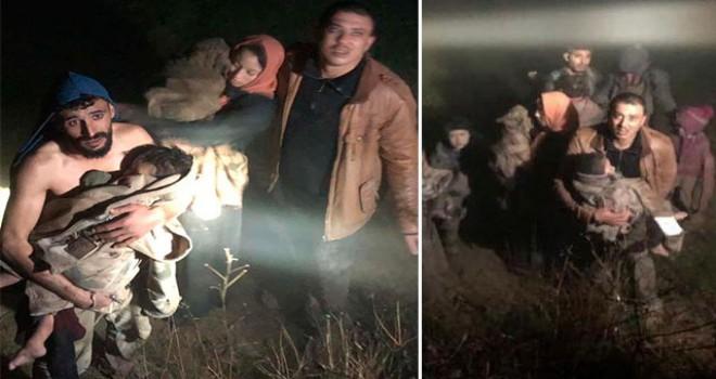 Donma tehlikesi geçiren Suriyeliler kurtarıldı