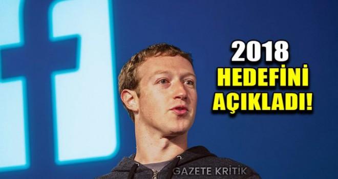 Facebook'un CEO'su Zuckerberg, 2018 yılı hedefini açıkladı!