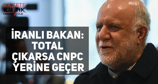 İranlı Bakan: Total çıkarsa CNPC yerine geçer