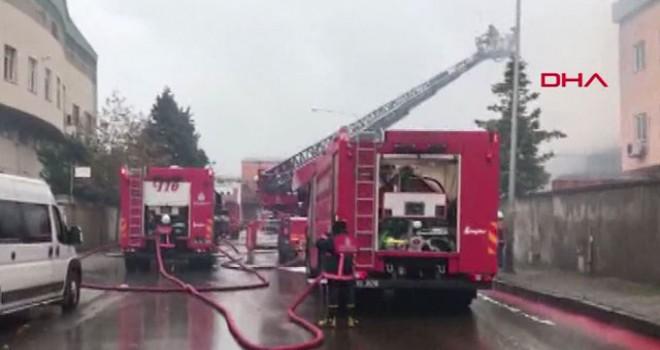 Tuzla'da korkutan fabrika yangın
