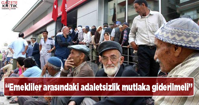 CHP'li Gürer: Emekliler arasındaki adaletsizlik mutlaka giderilmeli