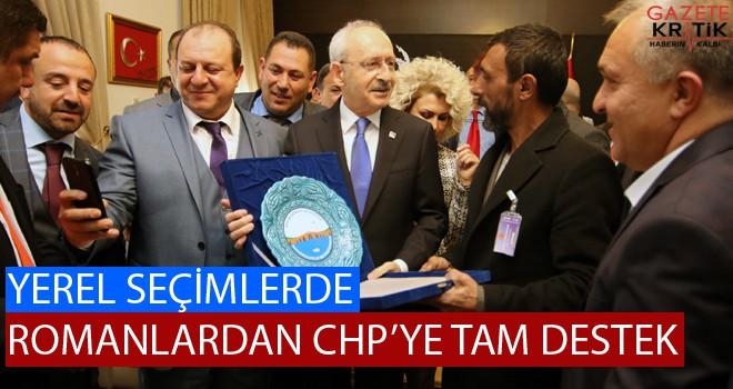 YEREL SEÇİMLERDE ROMANLARDAN CHP'YE TAM DESTEK