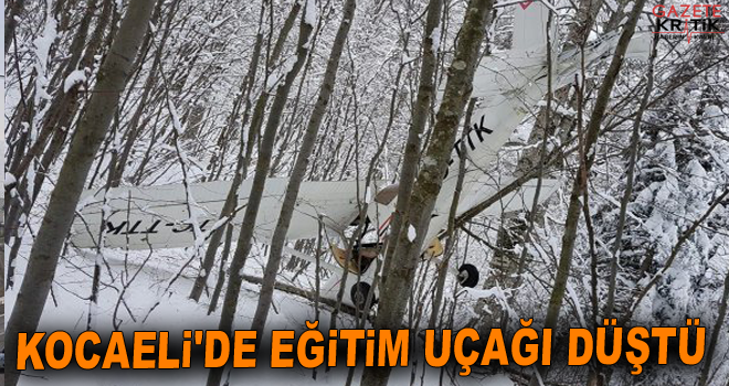Kocaeli'de eğitim uçağı düştü