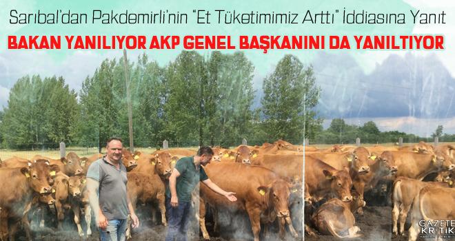 Sarıbal'dan Pakdemirli'nin 'Et Tüketimimiz Arttı'İddiasına Yanıt