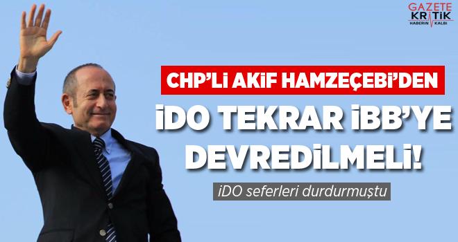 CHP'li Akif Hamzeçebi'den İDO Açıklaması