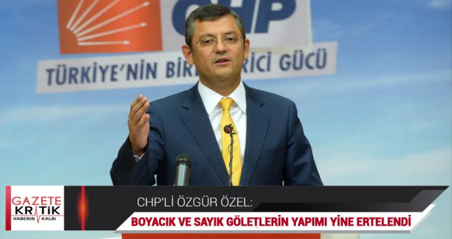 CHP'li Özel, Demirci'ye söz verilen göletlerin peşini bırakmıyor