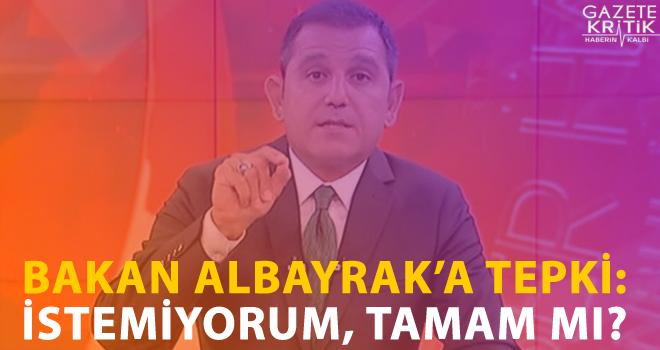 Fatih Portakal'dan Bakan Albayrak'a SMS tepkisi: İstemiyorum, TAMAM mı?