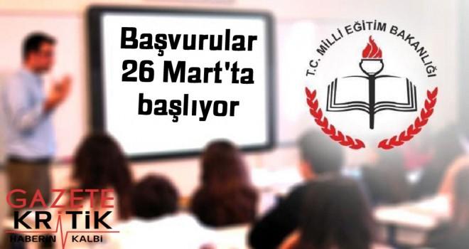 Sözleşmeli öğretmenlik alımı için tarih belirlendi: Başvurular 26 Mart'ta başlıyor