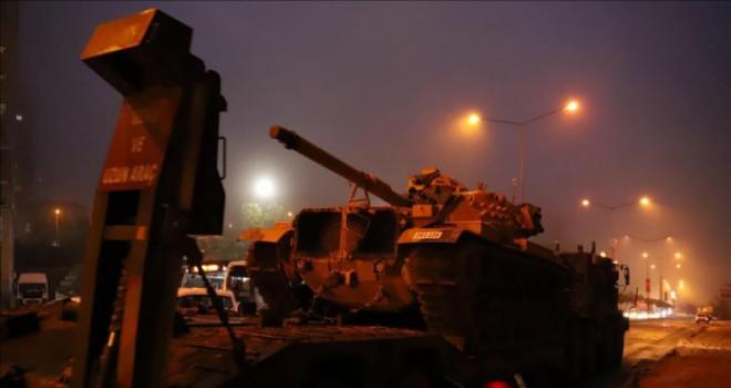 Obüs, tank, ZPT; Suriye sınırına askerî sevkiyat