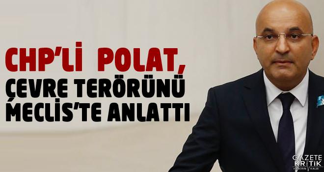 CHP'Lİ MAHİR POLAT, ÇEVRE TERÖRÜNÜ MECLİS'TE ANLATTI
