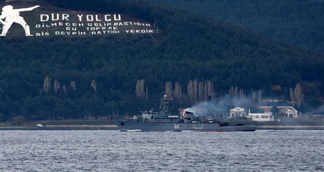 Rus mayın tarama gemisi Akdeniz'e iniyor