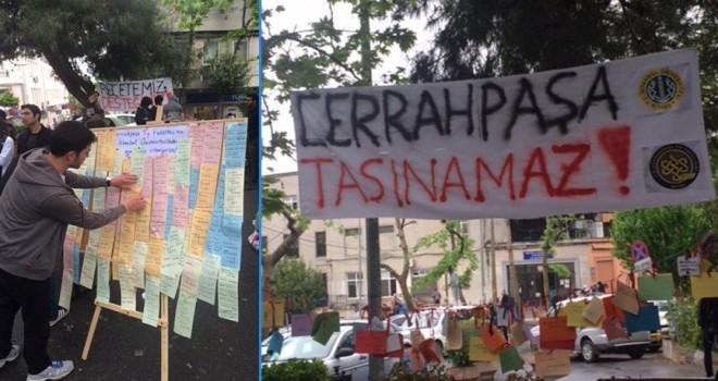 Cehhahpaşa'da gece gündüz nöbet tutan öğrenciler: Umudumuz var bu tasarı geri dönecek