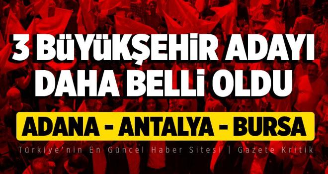 CHP Adana, Antalya ve Bursa adayları belli oldu! Ümraniye için ise 'Geri çekil' talimatı