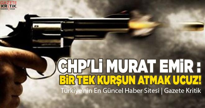 CHP'li Murat Emir : Bir tek kurşun atmak ucuz!