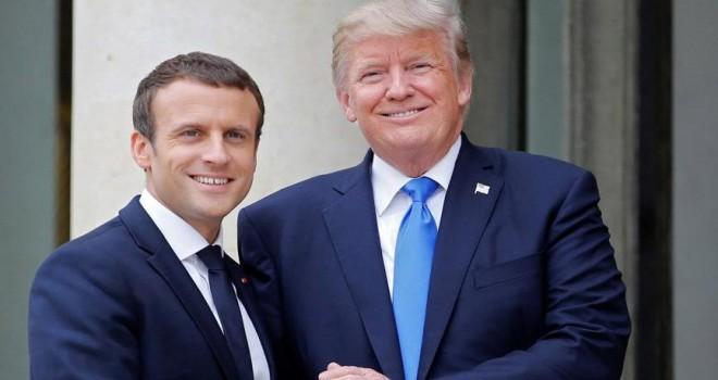 Macron'dan Trump'ın tweetlerine yanıt