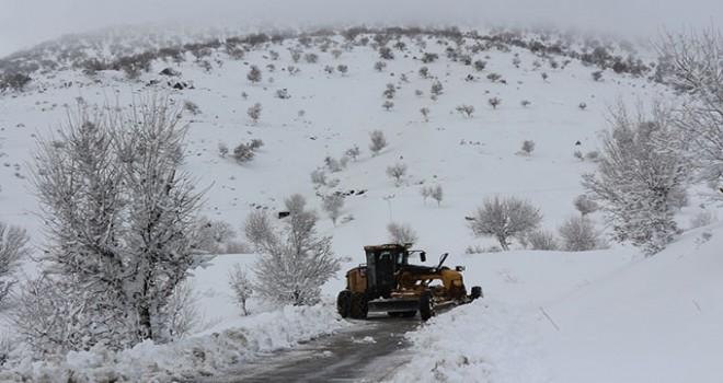 Batman'da 318 köy ve mezra yolu kar nedeniyle kapalı
