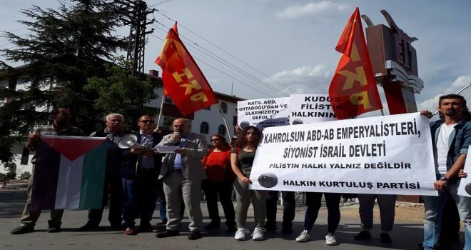 HKP'den İsrail Büyükelçiliği önünde protesto!