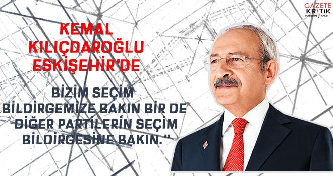 Kemal Kılıçdaroğlu Eskişehir'de konuştu
