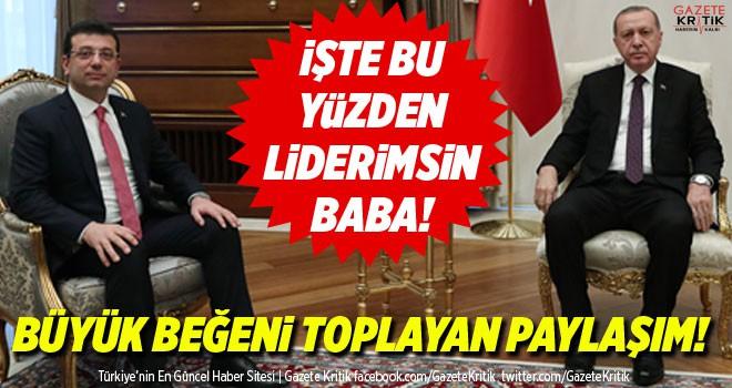 Ekrem İmamoğlu'nun oğlu Mehmet Selim: İşte bu yüzden liderimsin baba!