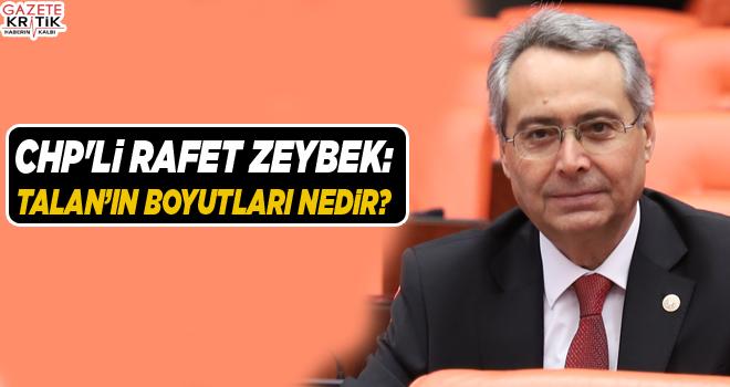 CHP'li Rafet Zeybek:Talan'ın Boyutları Nedir?