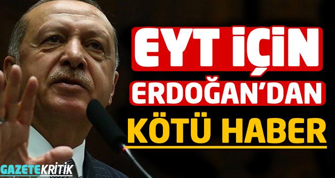 Erdoğan'dan emeklilikte yaşa takılanlar açıklaması:...