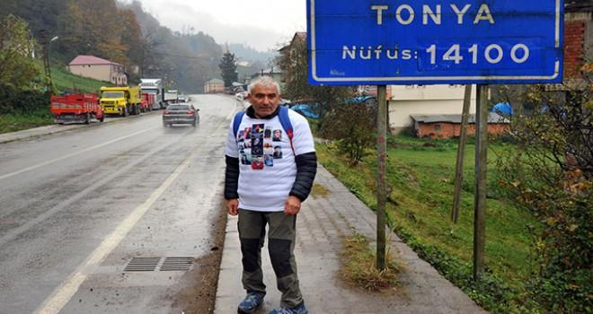 Kansere farkındalık için Trabzon'dan Ankara'ya...