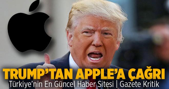 Trump'tan Apple'a çağrı: Ürünlerinizi Amerika'da...