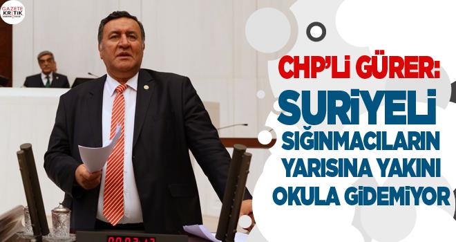 CHP'Lİ GÜRER: SURİYELİ SIĞINMACILARIN YARISINA...